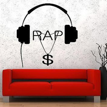 Wall Vinyl Music Hip Hop Rap Songs Money Guaranteed Quality Decal Unique Gift (z3562)