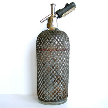 Vintage Wire Mesh Seltzer Bottle Sparklets New York by ThirdShift