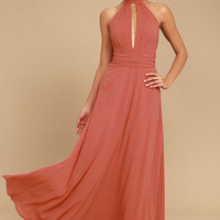 First Comes Love Rusty Rose Maxi Dress