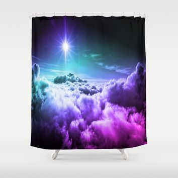 Cool Tone Ombre Clouds Shower Curtain by 2sweet4words Designs
