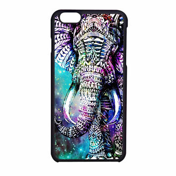 Elephant Aztec In Galaxy Nebula Space iPhone 6 Case