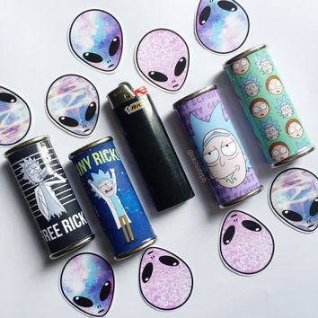 Rick and Morty Metal Lighter Case