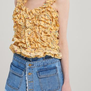 Hallie Frilled Bustier Blouse Discover the latest fashion trends online at storets.com