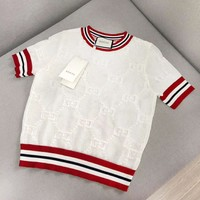 GUCCI New fashion more letter top t-shirt women White