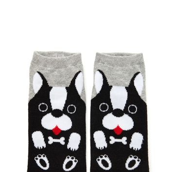 Dog Print Ankle Socks
