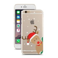 for iPhone 6 - Super Slim Case - Curious Reindeer - Christmas Gift - Christmas Theme
