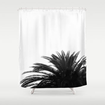 Palm tree Shower Curtain by ARTbyJWP