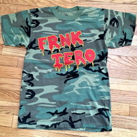 frnkiero...must die! camoflauge crew neck tshirt from B.CALM PRESS