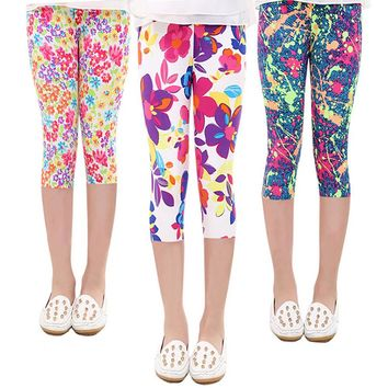 printing Flower Toddler Classic Girls legging 3-9Y baby girl leggings