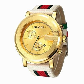 GUCCI men and women fashion trendy fashion quartz watch F
