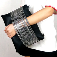 Leather Clutch with chain