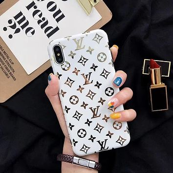 LV Cover Case for iPhone 8 iPhone 8 Plus iPhone X iPhone XS iPhone XS MAX iPhone XR