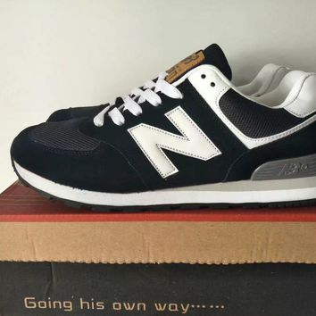 new balance 574 sport casual unisex n words retro sneakers couple running shoes-3