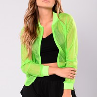 Areen Active Bomber Jacket - Neon Lime