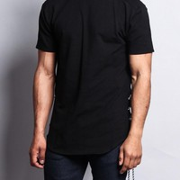 Side-Tie Extended Length T-Shirt
