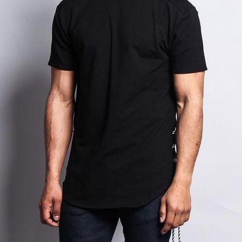 Side-Tie Extended Length T-Shirt TS613 - F9D