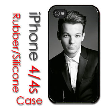 iPhone 4 4S Rubber Silicone Case - Louis Tomlinson One Direction - iPhone 4S Cover Case