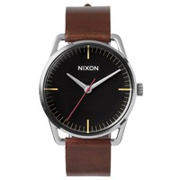 Nixon A129019 Men's The Mellor Black Dial Brown Leather Strap Watch