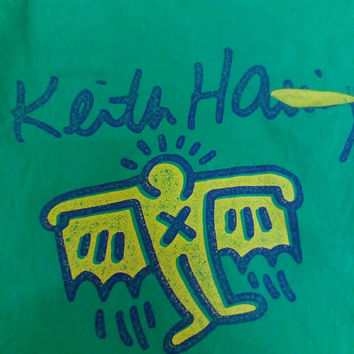 Keith haring green pop art street art vintage