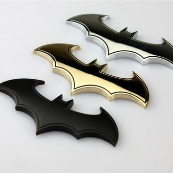 Batman 3D Chrome Metal Auto Car Motorcycle Logo Sticker Badge Emblem Tail Decals = 1927847364