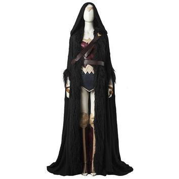Wonder Woman Cosplay Costume Full Set Superhero Women Custom Made With Cloak