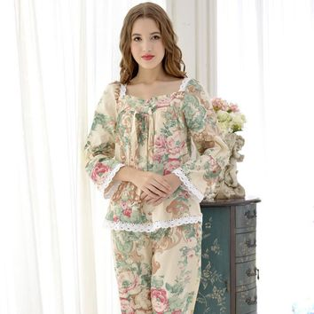 Onesuit Top Fashion Pajama Feminino Sleepwear Women Sweet 100% Cotton