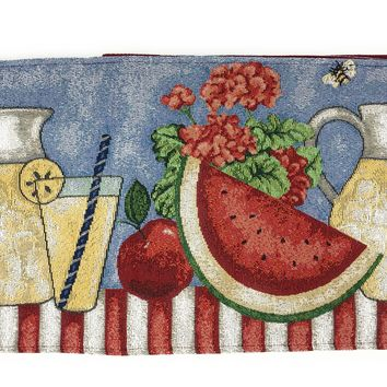 Tache Fruity Drinks Watermelon Lemonade Woven Tapestry Table Runners (13082TR)