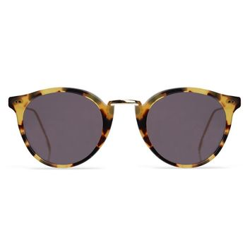 Illesteva Portofino 48mm Tortoise Sunglasses / Black Lenses