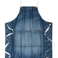 Denim apron - Dark denim blue - Home All | H&M GB