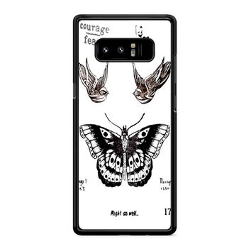 Tattoo Harry Style One Direction Samsung Galaxy Note 8 Case