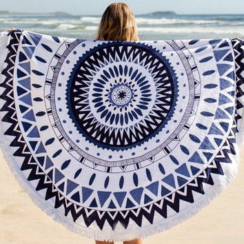 3 color Tassel Indian Mandala Tapestry Throw Yoga Mat Boho Wall Hanging Tapestry Cover-Up Blanket home Decor