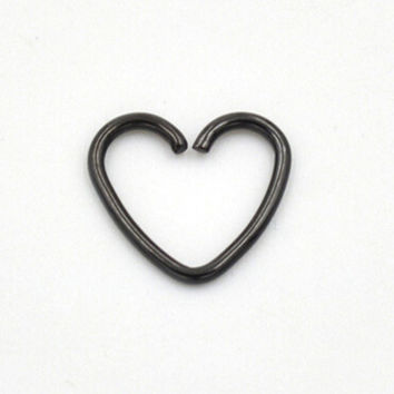 Women Punk Ear Cuff Wrap Heart Clip On Earring 5 pc Non Piercing Women Jewelry SM6