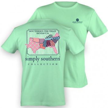 "Simply Southern ""Southern Border"" Tee - Mint"