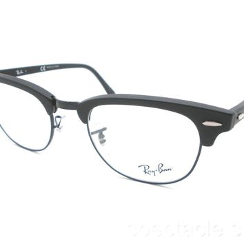 Ray Ban RB 5154 2077 49 Clubmaster Matte Black New Guaranteed Authentic