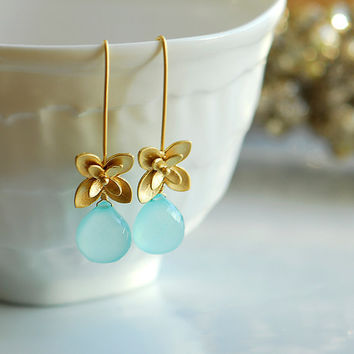 Morning dew earrings by joojooland on Etsy