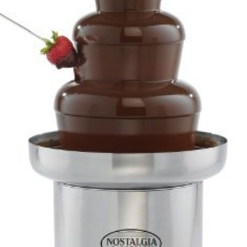 Nostalgia CFF552 4-Tier 6-Pound Capacity Stainless Steel Commercial Chocolate Fondue Fountain