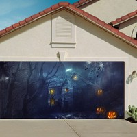 Garage Door Halloween Decorations Cover Decor Pumpkin Wicked Billboard Outside Decoration for Garage Door Halloween