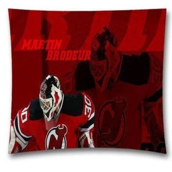 CREY2NO Mama NHL New Jersey Devils Cotton Throw Pillowcase with Zipper for Baseball Fans 18x18