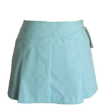 Vintage Tennis Skirt Blue 1980s New Old Stock by Tail Brand With Original Tags - Size 13/14