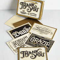 Fluent in Gratitude Notecard Set by ModCloth