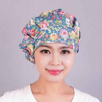 ESBU3C Lady Turban cotton coverwrap Head Wrap Band Chemo Bandana Pleated Cap Hat 10pcs/lot free ship