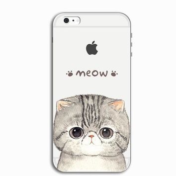Cute Kitty Cat Personal Tailor iPhone 7 7 Plus & iPhone 5s se 6 6s Plus Case Cover + Gift Box-466-170928