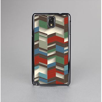 The Choppy 3d Red & Green Zigzag Pattern Skin-Sert Case for the Samsung Galaxy Note 3