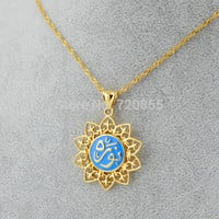Aliexpress.com : Buy Sunflower islam allah necklaces & pendants women,Religious 18k arab jewellry muhammad is gold plated muslim girls,Ramadan Gifts from Reliable pendant woman suppliers on Golden Mark Jewelry Factory