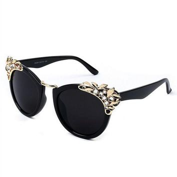 VONE055 Fashion rhinestone cat's eye sunglasses