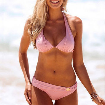 Sexy Bikini Bathing Suit Swimwear Hot Pink Swimsuit