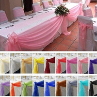 Details about  5M*0.5M Top Table Swags Sheer Organza Fabric DIY Wedding Party Bow Decorations Indoor [7983296519]