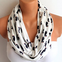 Infinity Scarf Loop Scarf Circle Scarf Cowl Scarf Black Swans Loop Infinity Circle Scarf Soft and Lightweight