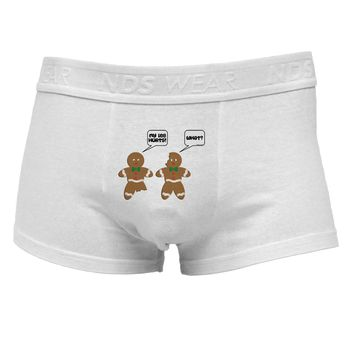 Funny Gingerbread Conversation Christmas Mens Cotton Trunk Underwear