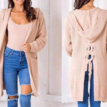 Criss-Cross Back Knit Cardigan